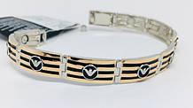 Мужские серебряные и золотые браслеты