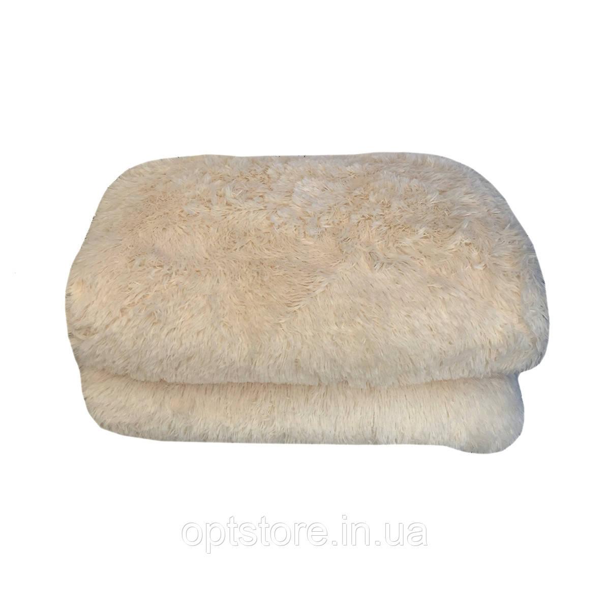 """""""молочный"""" пушистый плед - одеяло """"травка"""" размер 210*230 см, наполнитель силикон"""