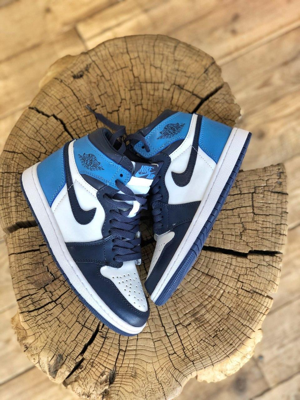 Кроссовки мужские Nike Air Jordan в стиле найк джордан Синие (Реплика ААА+)