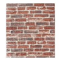 Декоративна 3Д-панель стінова Червона Цегла (самоклеючі 3d панелі для стін оригінал) 700x770x5 мм