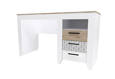 Стол письменный Нордик (Секвойя + Белый), фото 2