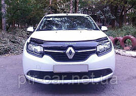 Дефлектор капота, мухобойка Renault Logan 2012-2020
