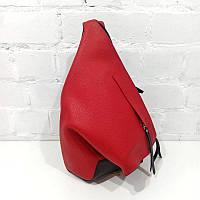 Стильный женский рюкзак, качественный PU, красный - черный. Арт.2072 Belali (Україна)