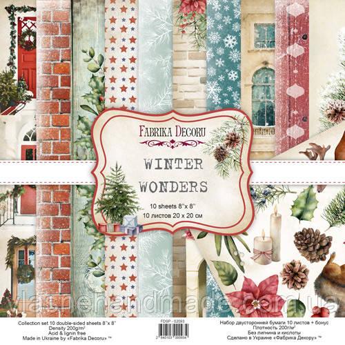 Набір двостроннього паперу - Winter wonders - Fabrika Decoru - 20x20