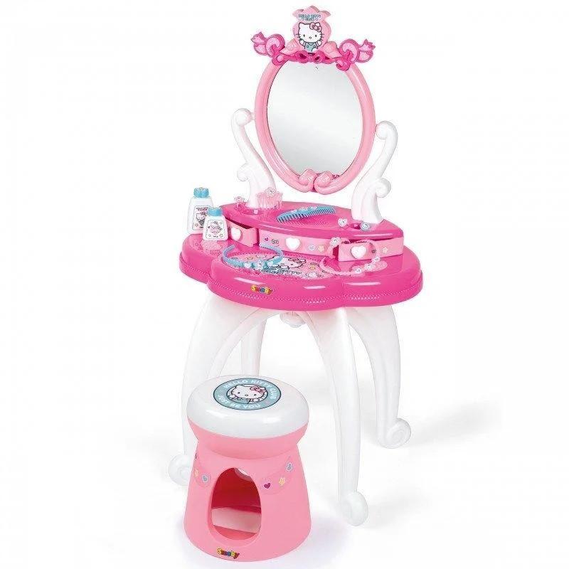 Туалетний столик з дзеркалом і стільчиком Hello Kitty (Хелоу Кітті, 10 акс) Smoby 3+ (320239)