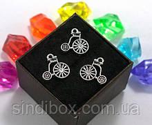 "(10шт) Подвески, кулоны из металла 16х16мм, ""Велосипед"" (сп7нг-3963)"