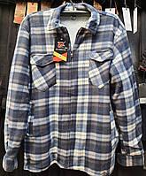 Рубашка теплая мужская на меху батальная
