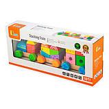 Деревянный поезд Viga Toys Яркие кубики (50534), фото 2
