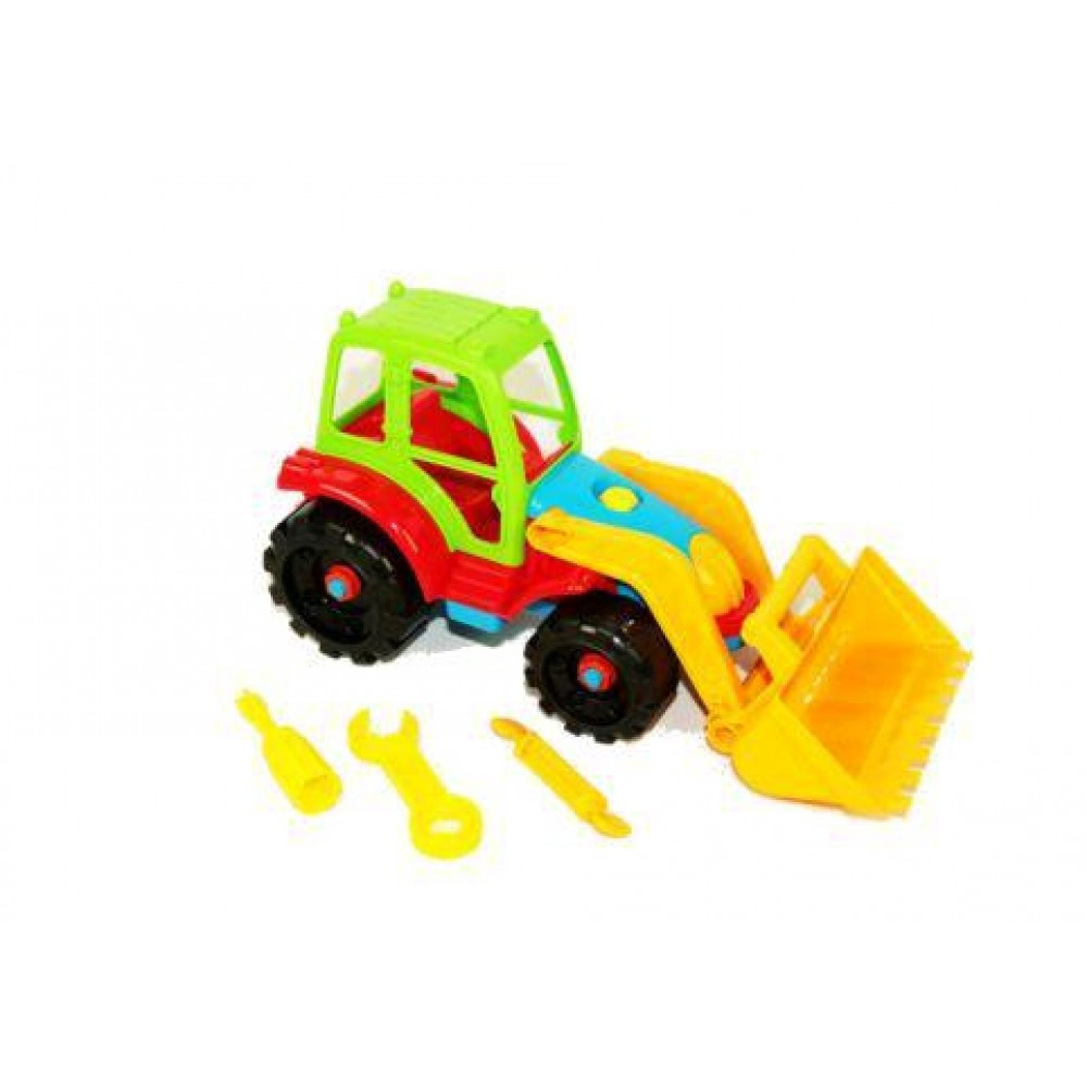 Іграшка-конструктор Трактор з ковшом ТМ Toys Plast