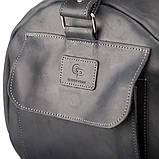 Сумка дорожная Grande Pelle 11046 из винтажной кожи Черная, фото 6
