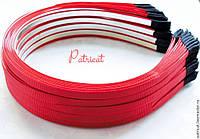 Основа для ободков металлическая красная репсовая лента 5 мм 10 шт/уп