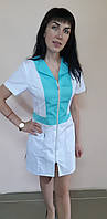 Жіночий медичний халат Опера бавовна короткий рукав