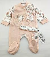 Человечек 3 6 месяцев Турция для новорожденного на девочку человечки новорожденных трикотаж