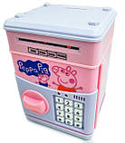 """Детская электронная копилка сейф """" Свинка пеппа""""  с кодовым замком и звуковыми эффектами, фото 2"""