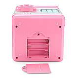 Игрушечный сейф детский Розовая с серым, кнопки Бирюза копилка детская с кодовым замком и звуковыми эффектами, фото 5