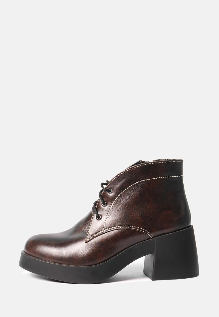 VM-Villomi Коричневые ботинки на большом каблуке