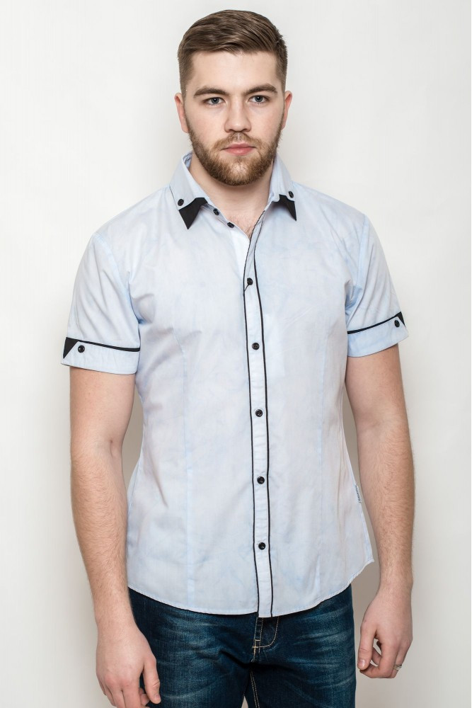 Мужская рубашка с коротким рукавом 3129