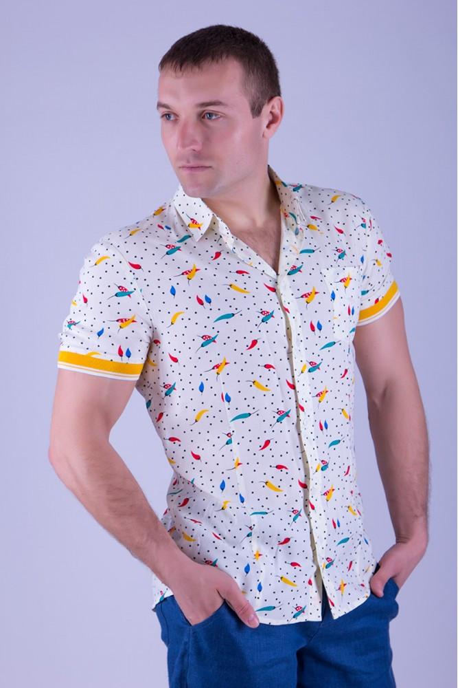 Мужская рубашка с коротким рукавом 3145