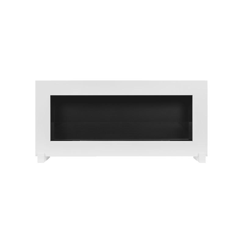Биокамин белый BOX 90x40cm СТОЯ с серии Nice-House