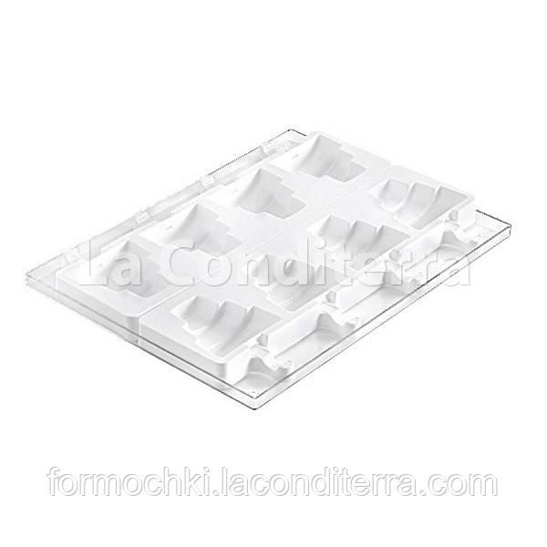 Силиконовая форма для десертов WEDDING STICK GEL09 (4 ячейки, объем=368 мл), фото 1