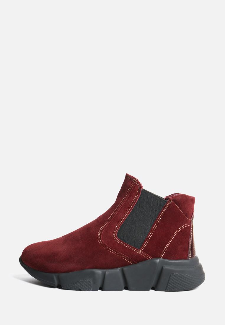 VM-Villomi Замшевые бордовые ботинки с резинками