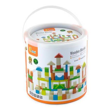 Деревянные кубики Viga Toys Цветные блоки, 80 шт., 2,5 см (50333), фото 2