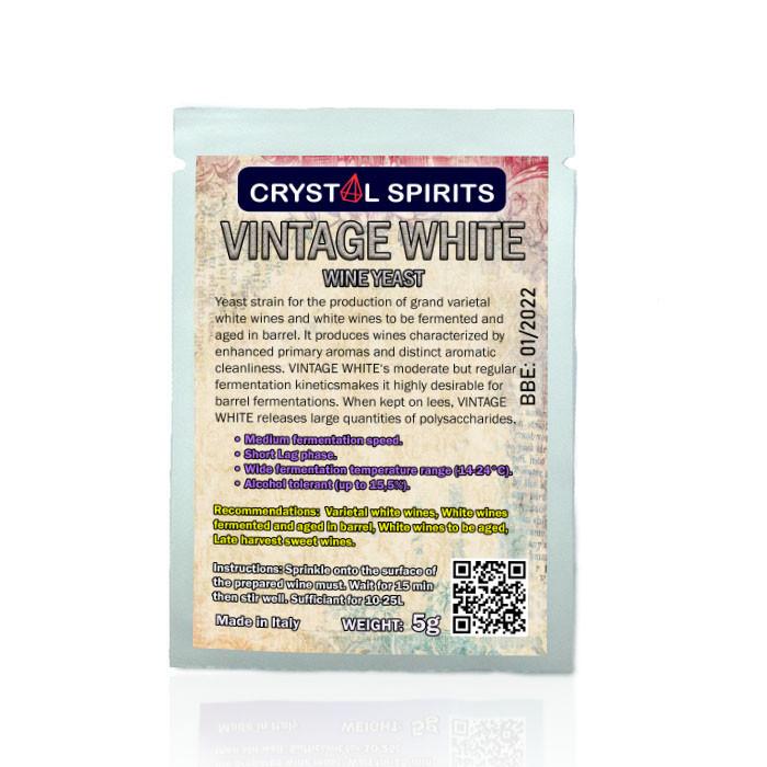 Дрожжи для выдержанных белых вин Crystal Spirits VINTAGE WHITE Wine Yeast