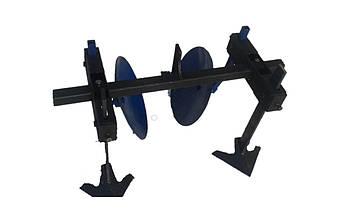 Дисковые окучники с пропольниками для мотоблока диаметр 34см. ТМ Пахарь