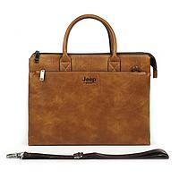 Мужской портфель сумка Jeep Buluo для документов коричневый