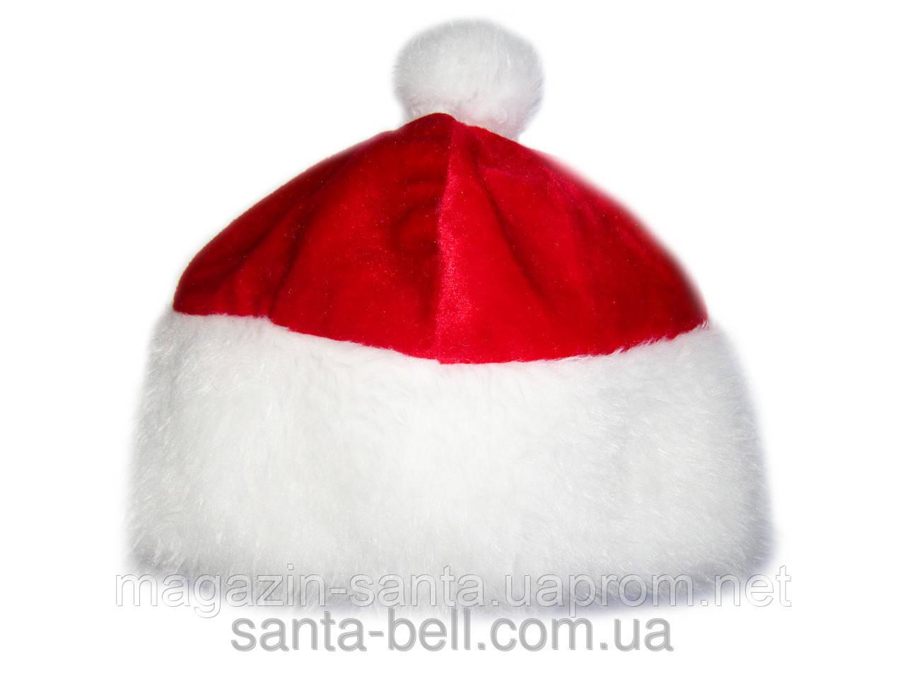 """Новорічна шапка червона """"Дід мороз"""" Діда Мороза Ковпак Санта Клауса Santa Claus"""