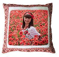 Подушка с украинской вышивкой с Вашим фото