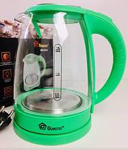 Чайник стеклянный DOMOTEC MS-8112/ 3759 (12 шт/ящ)