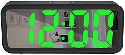 Часы настольные DT-6508 7143 с зеленой подсветкой
