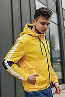 Мужская стильная ветровка желтая размеры S-XL