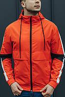 Мужская стильная ветровка оранжевая XL