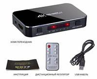 HDMI сплиттер переключатель на 4 порта 4K 3D с пультом