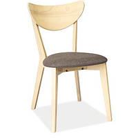 Обеденный стул из натурального дерева Signal CD-37 с тканью серого цвета в скандинавском стиле Польша