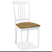 Белый деревянный стул с мягким сиденьем Signal CD-63 для кухни в классическом стиле Польша