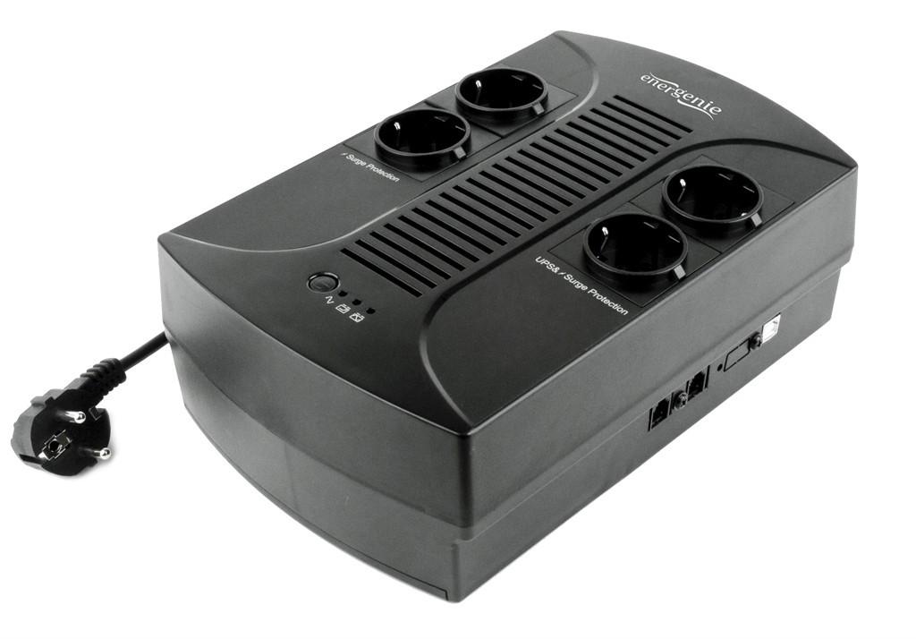 ИБП EnerGenie EG-UPS-001 650VA, Line Int., AVR, 4xSchuko