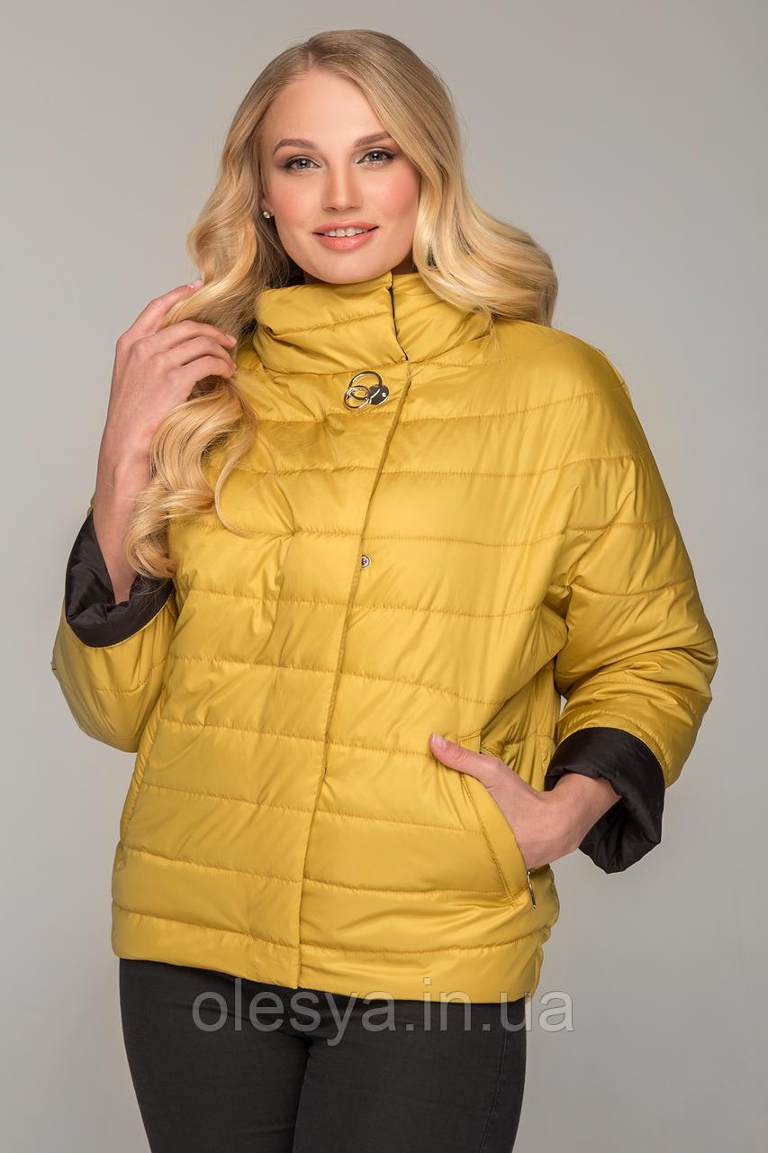 Демисезонная короткая женская куртка Нонна, размеры 48- 56