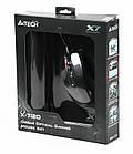 Мышь A4Tech X-710BK Black USB + коврик A4Tech X7-200MP, фото 2