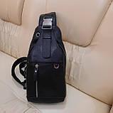 Мужской городской рюкзак сумка из натуральной кожи, фото 2