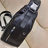Мужской городской рюкзак сумка из натуральной кожи, фото 3