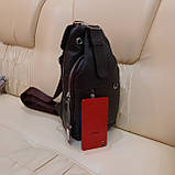 Мужской городской рюкзак сумка из натуральной кожи, фото 4
