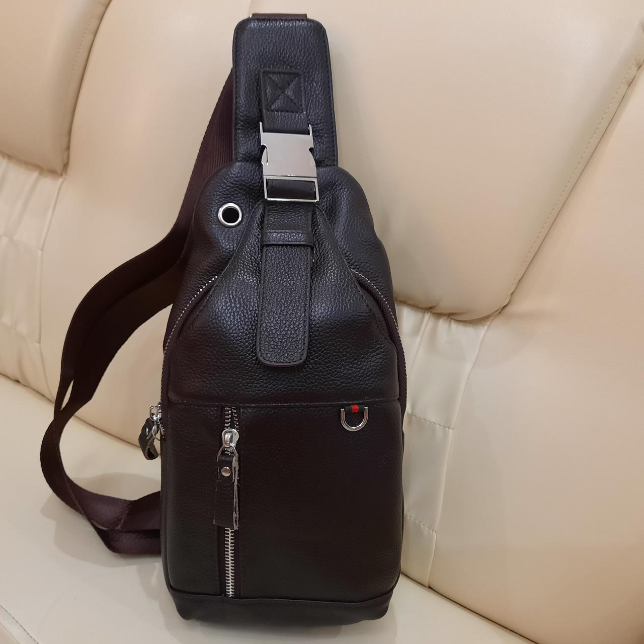 Мужской городской рюкзак сумка из натуральной кожи