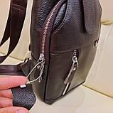 Мужской городской рюкзак сумка из натуральной кожи, фото 6