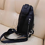 Мужской городской рюкзак сумка из натуральной кожи, фото 7