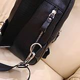 Мужской городской рюкзак сумка из натуральной кожи, фото 9