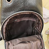 Мужской городской рюкзак сумка из натуральной кожи, фото 10