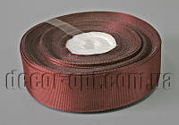 Лента репсовая оттенок коричневый 2,5 см 25 ярд арт 209